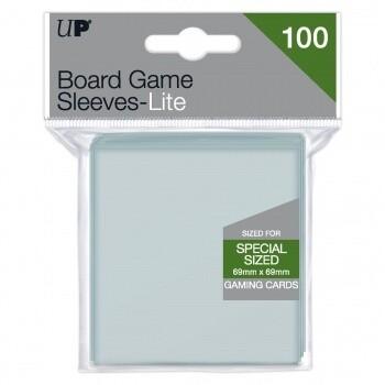 UP - Lite Board Game Sleeves 69mm x 69mm (100 Sleeves)