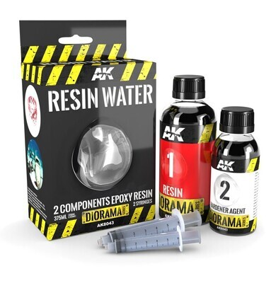 Resin Water 2-Components Epoxy Resin – 375ml (Emaillie  - Diorama - AK Interactive