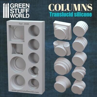 Silikon Texturplatten Columns Silicone Mould - Säulen- Greenstuff World