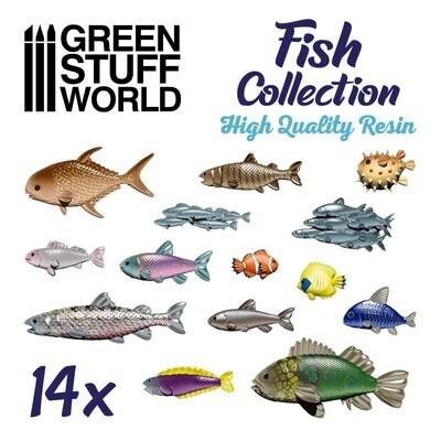 Fischsammlung aus Harz Fish Collection Resin - Greenstuff World