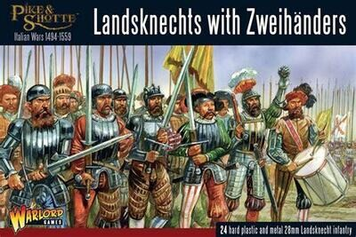 Landsknechts with Zweihanders  - Pike & Shotte - Warlord Games