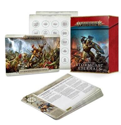 Warscroll Cards: Schriftrollenkarten: Stormcast Eternals Stormcast Eternals (Deutsch) - Warhammer Age of Sigmar - Games Workshop