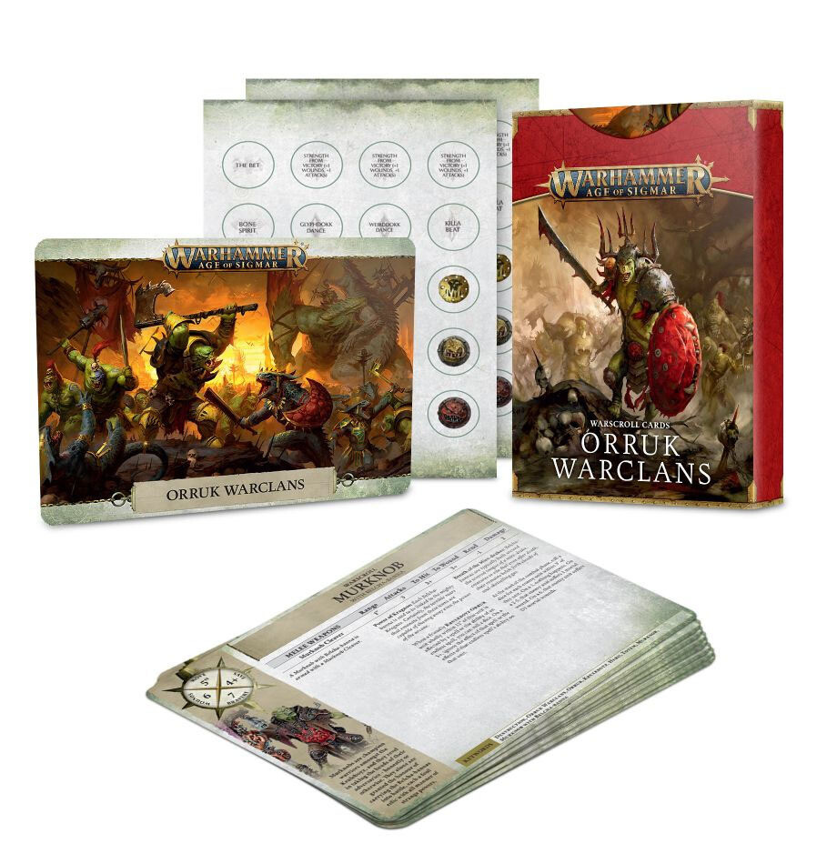 Warscroll Cards: Orruk Warclans (Englisch) - Games Workshop