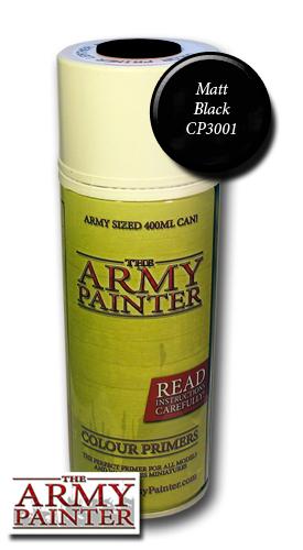 Matt Black Undercoat - Army Painter Colour Primers