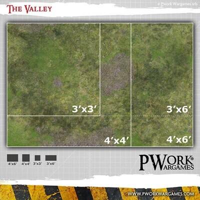 The Valley 3'x3' - Wargames Terrain Mat - Rubber Neoprene - PWork Wargames