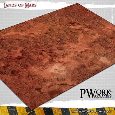Lands of Mars - Wargames Terrain Mat PVC Vinyl - 22x33