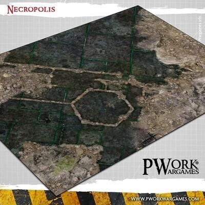 Necropolis - Wargames Terrain Mat PVC Vinyl - 22x33