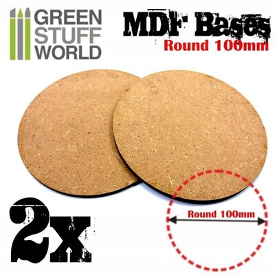 100 mm runde MDF Basen - Greenstuff World
