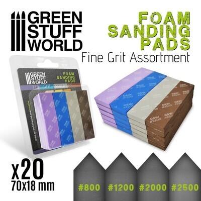 EVA-SCHAUM-PAD - SORTIMENT FEINKORN x20 Sanding Pads Fine Grid Assortment - Greenstuff World