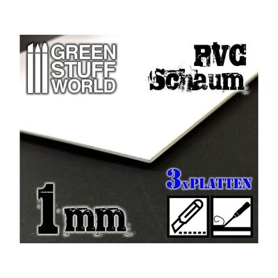 Foamed PVC 1 mm - Greenstuff World