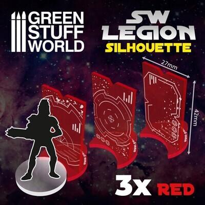 SW Legion Silhouette - Rot - Greenstuff World