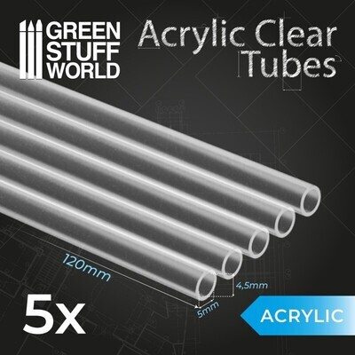 Acrylglasrohre 5 mm Acrylic Clear Tubes - Greenstuff World
