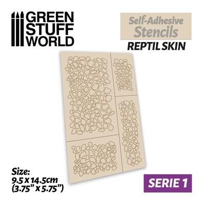 Selbstklebende Schablonen - Reptilienhaut - Self-Adhesive Stencils - Reptil Skin - Greenstuff World