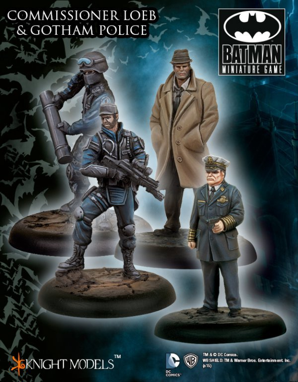 Comissioner Loeb and Gotham Police - Batman Miniature Game - Knight Models