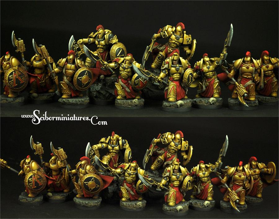SF Spartan Warriors 10 figures set - Scibor Miniatures