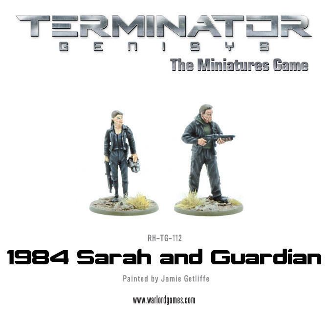 1984 Sarah and Guardian (metal) - Terminator Genisys - River Horse