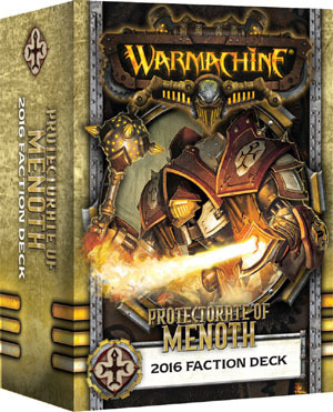 Protectorate of Menoth 2016 Faction Deck - Kartenset - Fraktionsdeck - Warmachine - Privateer Press