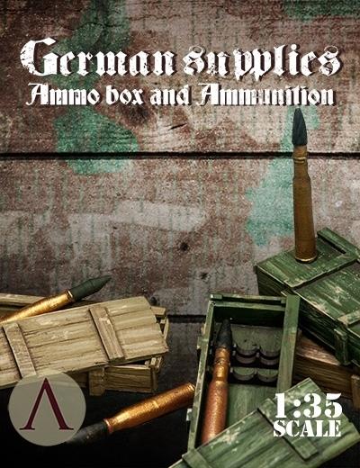 German Supplies: Ammo Box and Ammunition - Warfront - Scale75