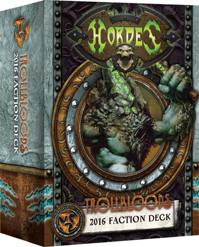 Trollblood Trollblütige 2016 Faction Deck - Kartenset - Fraktionsdeck - Hordes- Privateer Press