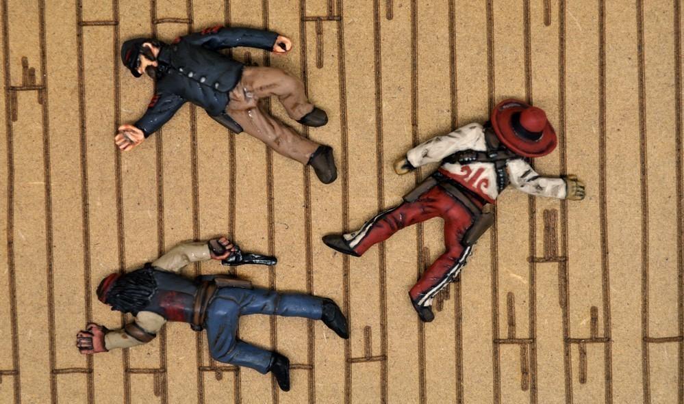 Desperado Casualties - 3 Figures - 3 Figures - Dead Man's Hand