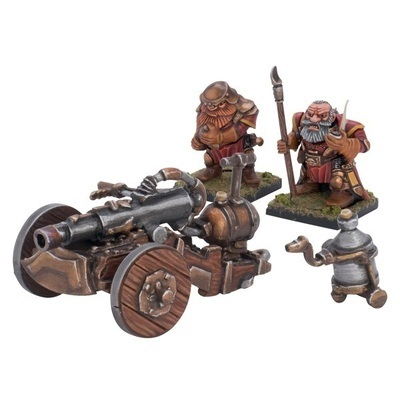 Dwarf Flamebelcher Cannon - Dwarfs Zwerge - Kings of War - Mantic Games