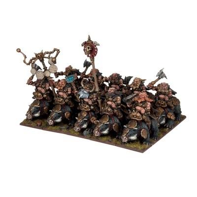 Dwarf Brock Riders Regiment - Dwarfs Zwerge - Kings of War - Mantic Games