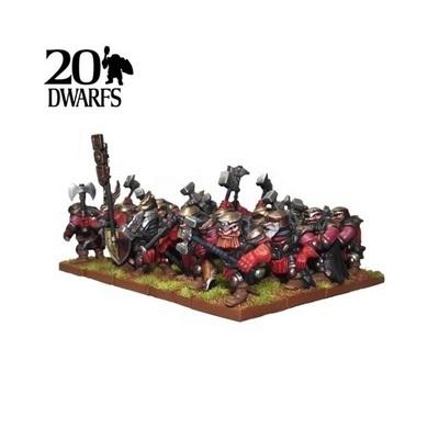 Dwarf Shield Breakers Regiment - Dwarfs Zwerge - Kings of War - Mantic Games