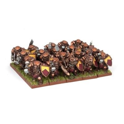 Dwarf Ironclad Regiment - Dwarfs Zwerge - Kings of War - Mantic Games