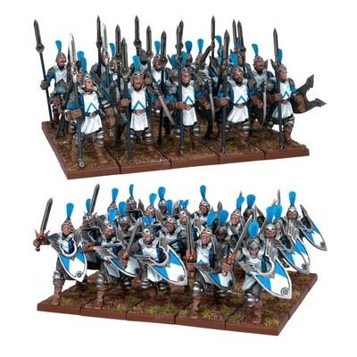 Men At Arms (40) - Basilean - Kings of War - Mantic Games