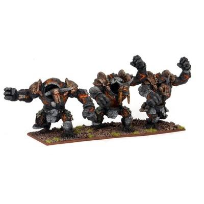 Abyssal Dwarf Lesser Obsidian Golems - Abyssal Dwarfs - Kings of War - Mantic Games