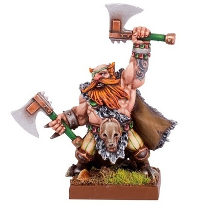 Dwarf Berserker Lord - Dwarfs Zwerge - Kings of War - Mantic Games