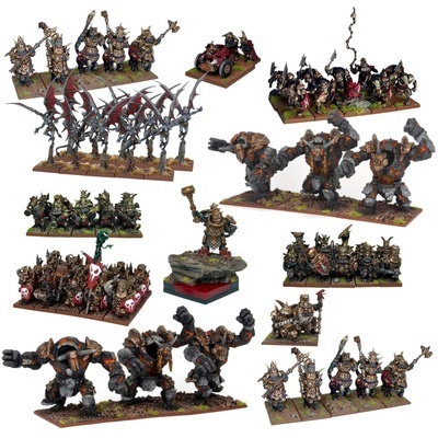 Abyssal Dwarf Mega Army - Abyssal Dwarfs - Kings of War - Mantic Games
