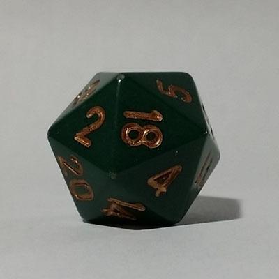 Grün Dust Kupfer W20 Opaque D20 20mm - Chessex