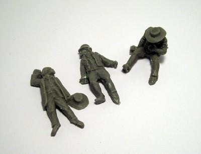 Dead Lawmen Casualties - 3 Figures - 3 Figures - Dead Man's Hand