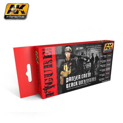 Panzer Crew Black Uniforms - Farbset - AK Interactive