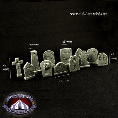 Fantasy Graveyard Tombstones - Scenics - Ristul