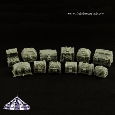 Fantasy Treasure Chests Kit (12) - Scenics - Ristul