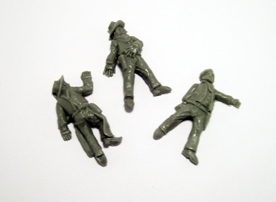 Cowboys Casualties - 3 Figures - Dead Man's Hand