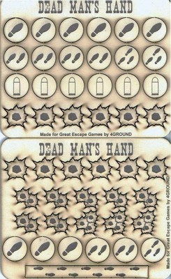 Dead Man's hand Markers - Under Fire, Movement, Out of Ammo, Measuring stick