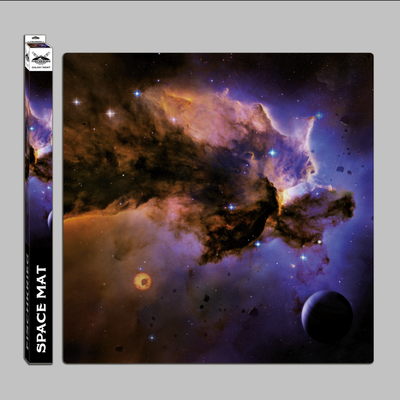 Space mat: Galaxy right - in Mousepad-Qualität - Spielmatte - Fischkrieg