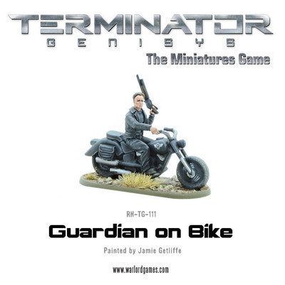 Guardian on Bike (metal) - Terminator Genisys - River Horse