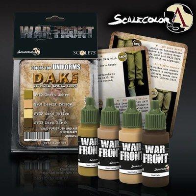 Scale75-D.A.K.-Paint-Set-01-(4x17mL)- Warfront - Scale75