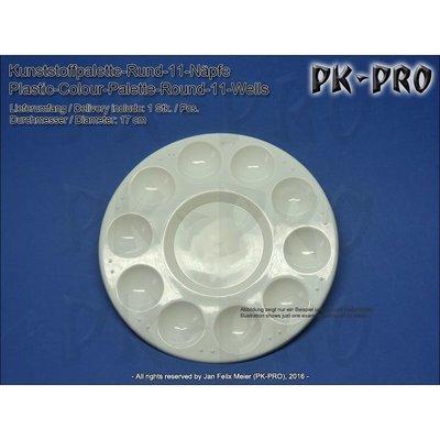 TS-Kunststoffpalette-Rund-11-Näpfe-(17cm) - PK-Pro
