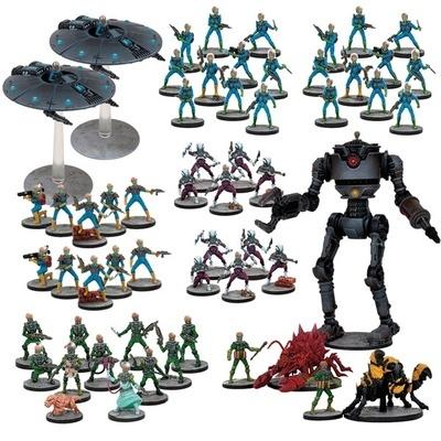 Mars Attacks - Martian Mega Army (55+3 Figuren)