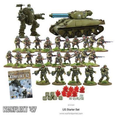 Konflikt '47 Starter Set (US Army) - Warlord Games