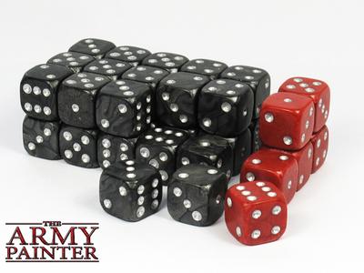 Wargamer Dice - Black with Red - Würfel - Army Painter