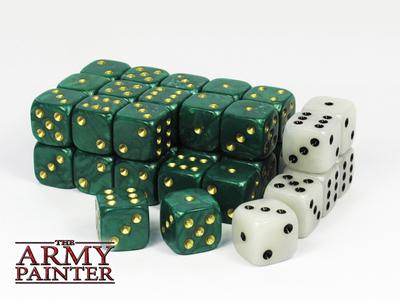 Wargamer Dice - Green with White - Würfel - Army Painter