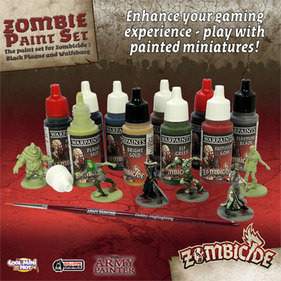 Black Plague Paint Set - Zombicide - Army Painter Warpaints