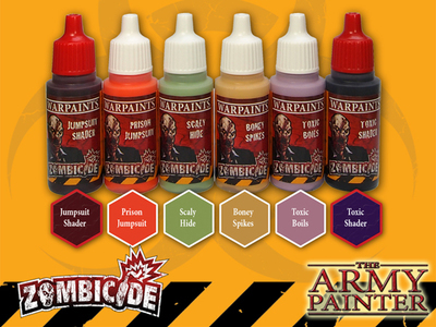 Toxic/Prison Expansion Paint Set Zombie - Zombicide - Army Painter Warpaints