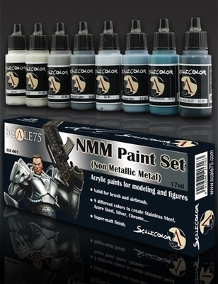 NMM (Non Metallic Metal) Steel Paint Set - Stahl Farbset - Scale75